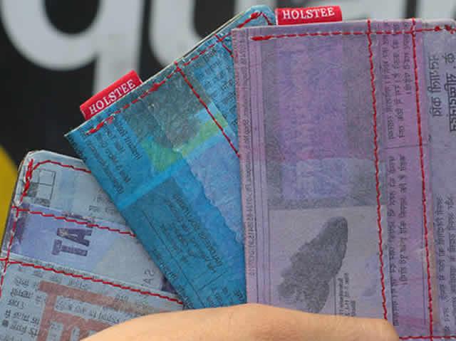 Il portafoglio riciclato di Holstee