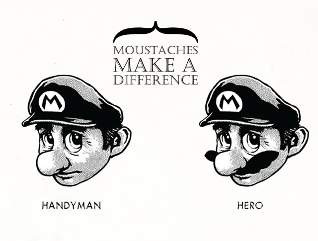 Moustaches Make A Difference