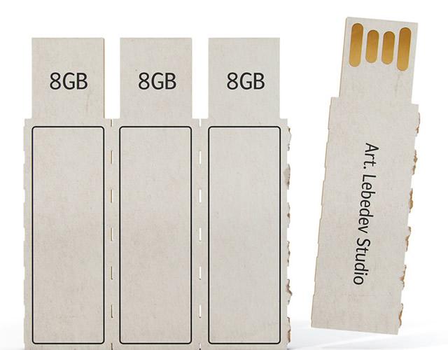 Cardboard usb pen drive