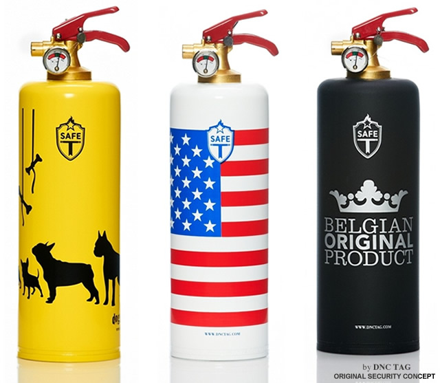 Dnctag extinguishers with style