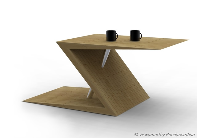 Z-tab coffee table