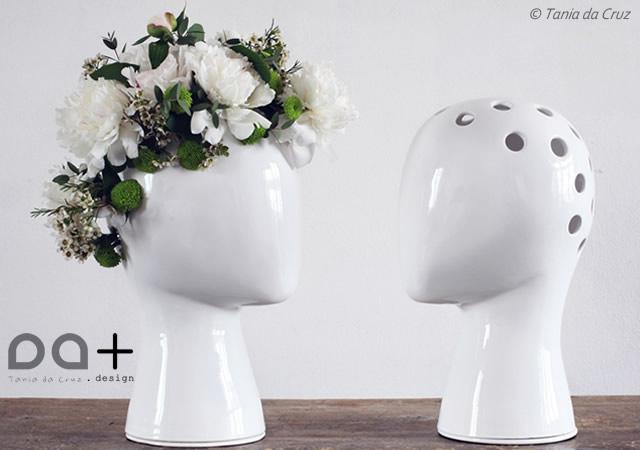 Wig ceramic vase