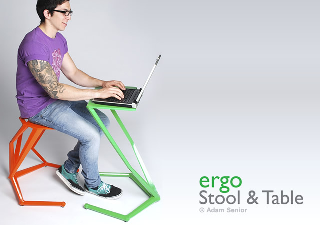 Ergo stool and table