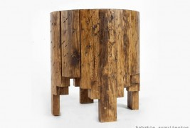 Salmi Negativo wood stool - thumbnail_2
