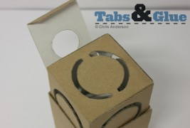 Recycled cardboard lamp - thumbnail_2