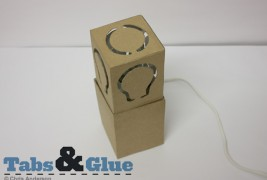 Recycled cardboard lamp - thumbnail_3