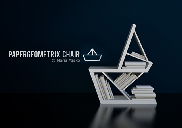 Papergeometrix chair