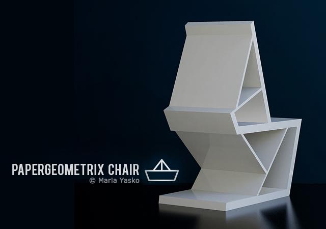Papergeometrix Chair En Themag