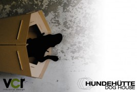 Cardboard dog house - thumbnail_1