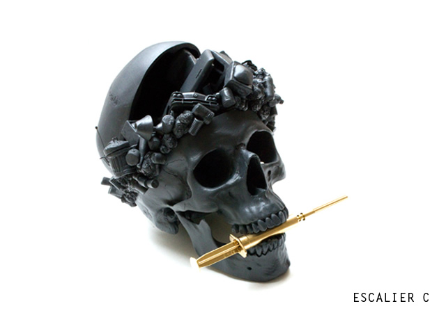 In momentum – skull sculpture