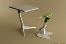 School desk and standing support - thumbnail_2