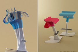 School desk and standing support - thumbnail_6