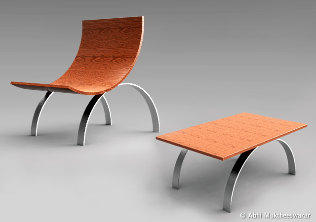 Chable chair + table