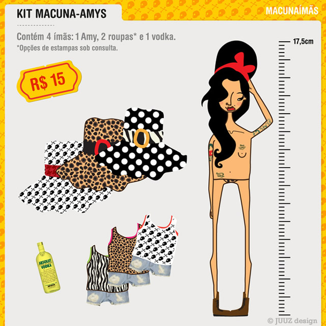 Amy Winehouse paper doll