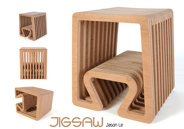 Jigsaw stool