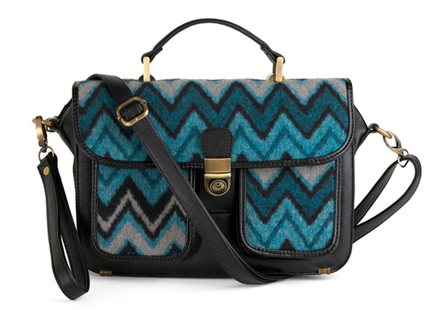 Tribal patterned satchel bag