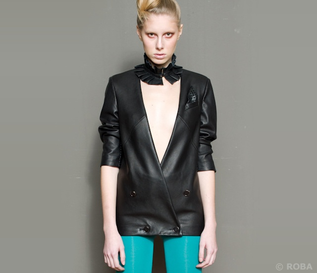 Roba leather blazer | Image courtesy of Roba