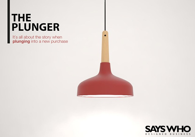 The Plunger suspension lamp