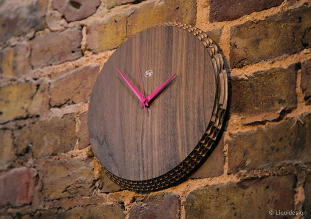 Edge cardboard clocks | Image courtesy of Liquidesign