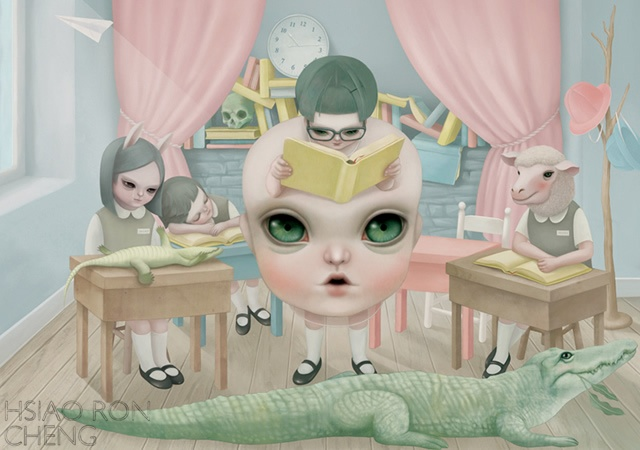 Little Mama va a scuola | Image courtesy of Hsiao-Ron Cheng