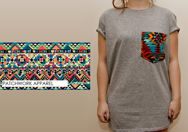 T-shirt con taschino tribale | Image courtesy of Patchwork Apparel