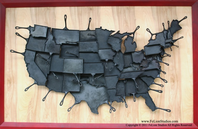 United States of Cast Iron Skillets | Image courtesy of FeLion Studios