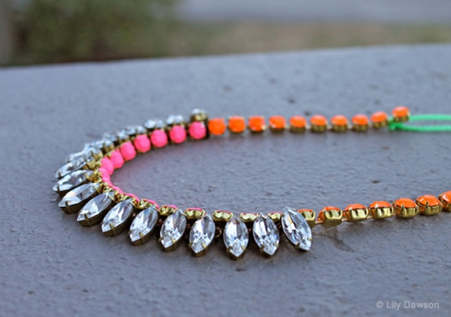 Lily Dawson neon necklace | Image courtesy of Lily Dawson