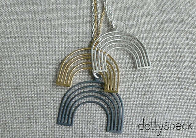 Dottyspeck rainbow necklace