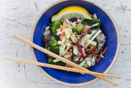 Asian rice and vegatable bowl