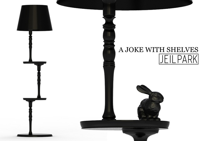 A joke with shelves lamp