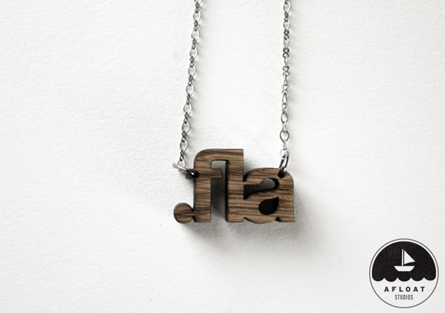 File Extension Necklaces | Image courtesy of Afloat Studios