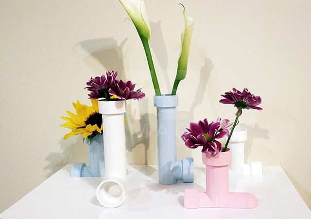 Pipe vase
