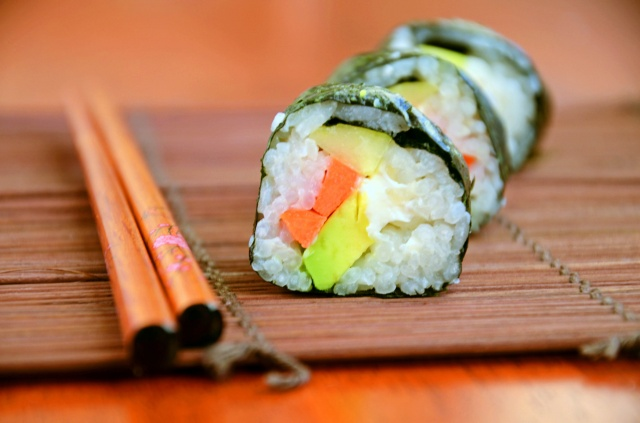 Home made sushi roll