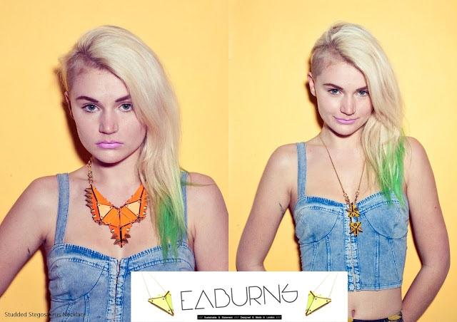 Sustainable statement jewelry by EABurns | Image courtesy of Stephanie Sian Smith