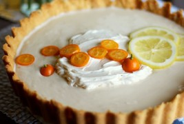 Lemon yogurt ice box tart
