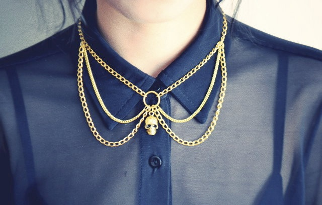 Collar necklace by Francis Frank