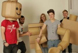 Cardboard Lego man - thumbnail_1