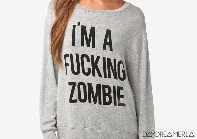 Zombie sweatshirt | Image courtesy of Daydreamer LA