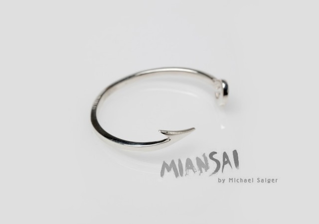 Fishing hook cuff | Image courtesy of Miansai