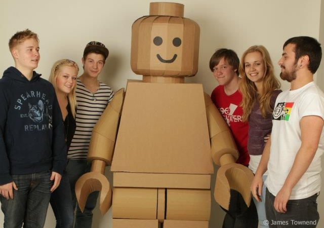 Cardboard Lego man | Image courtesy of James Townend