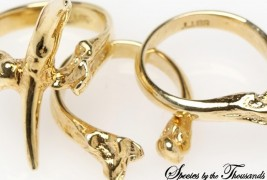 Tooth And Bone Ring Set - thumbnail_2