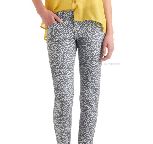 Leopard jeans | Image courtesy of Modcloth