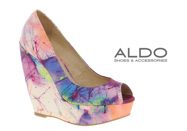 Aldo printed wedges