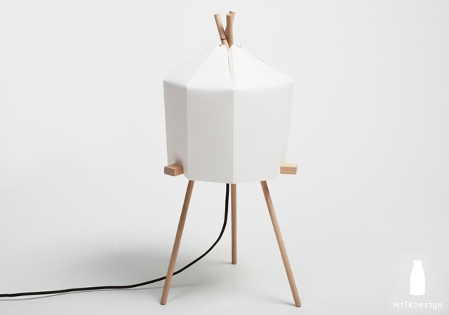 Paper lamp | Image courtesy of Milk Design
