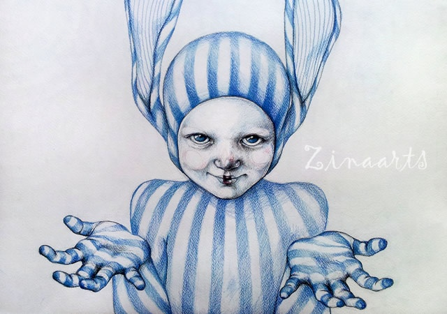 Drawings by Zina | Image courtesy of Lazarina Nedelcheva