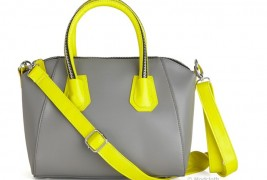 Grey and fluo bag