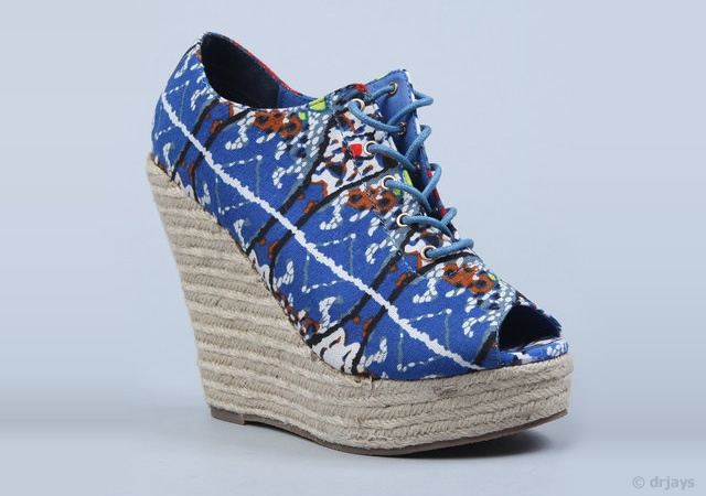 Lace up ethnic wedges | Image courtesy of drjays.com