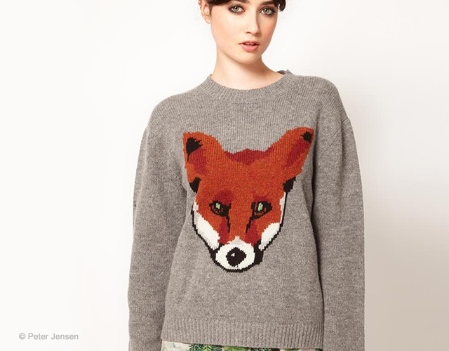 Peter Jensen fox sweater | Image courtesy of Peter Jensen at Asos