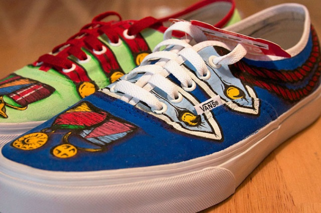 Carl Medley III customized sneakers | Image courtesy of Carl Medley III
