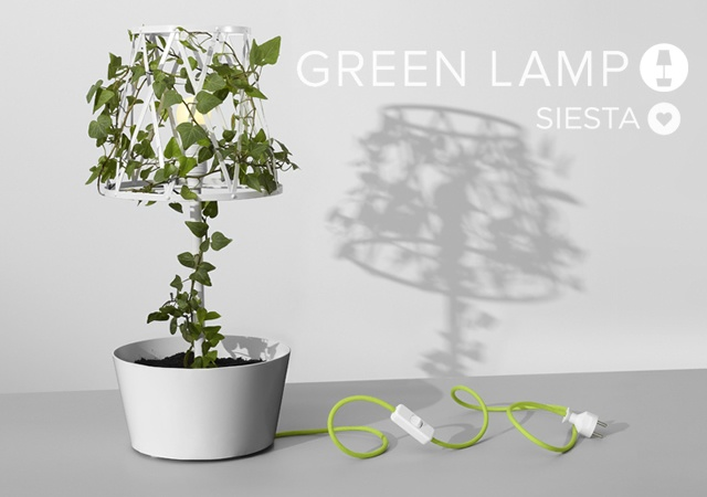 Green lamp | Image courtesy of Siesta